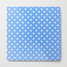 Hearts on Sky Blue Metal Print