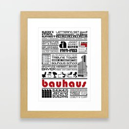 Bauhaus Type and Architecture Framed Art Print