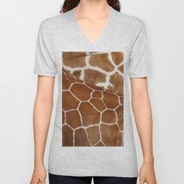 Giraffe Design Illustration Background Unisex V-Neck