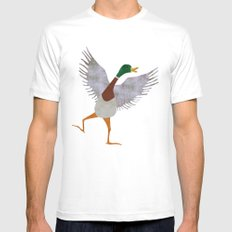Duck Mens Fitted Tee White X-LARGE