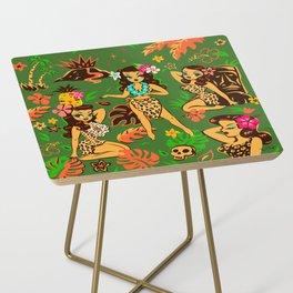 Tiki Temptress on Green Side Table