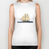 sail Biker Tanks featuring sail by The Traveling Catburys