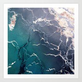 Abstract ice creak Art Print
