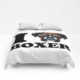 I Love Boxer modern v1 Comforters