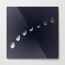 Moonlight Phases Metal Print
