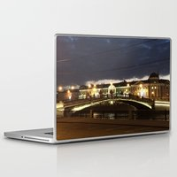 moscow Laptop & iPad Skins featuring Night Moscow. by Mikhail Zhirnov