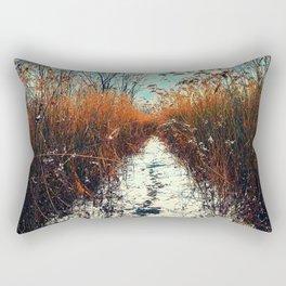 Distant Rainbow Rectangular Pillow