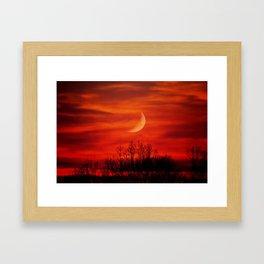 Eerie Red Sky Framed Art Print