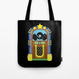 Jukebox Clubbing Disc Jockey Juke Box Vintage Tote Bag