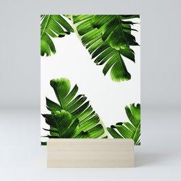 Green banana leaf Mini Art Print