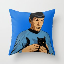 Spock's cat Throw Pillow