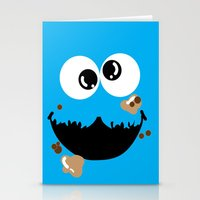 cookie monster Stationery Cards featuring Cookie Monster  by Lyre Aloise