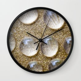 Colorful liquid droplets and blurs  Wall Clock