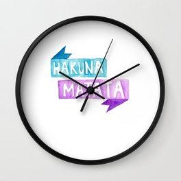 hakuna matata Wall Clock