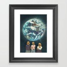 Full Earth () Framed Art Print