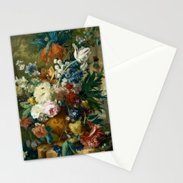 """Jan van-Huysum """"Flowers in a Vase with Crown Imperial and Apple Blossom"""" Stationery Cards"""