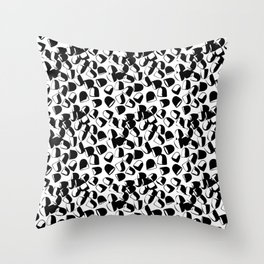 Morning Medicine in Black & White Throw Pillow