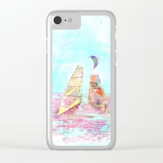 Surfen on Baltic sea Clear iPhone Case