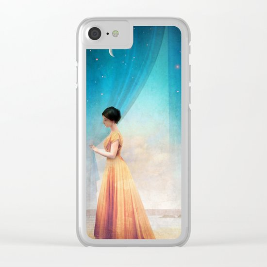 Night with a View Clear iPhone Case