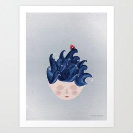 MUSINGS - WAVES Art Print