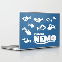 nemo Laptop & iPad Skins featuring Finding Nemo by Citron Vert