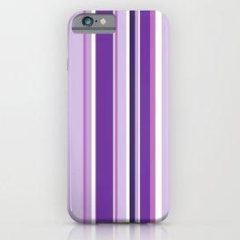 Lilac and Mauve Purple Stripes iPhone Case