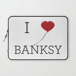 I heart Banksy Laptop Sleeve
