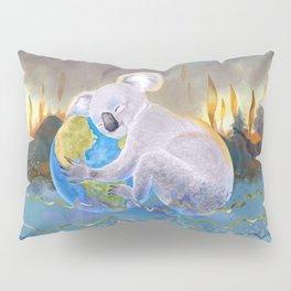 Koala Loves Earth - Australian Surreal Climate Change  Pillow Sham