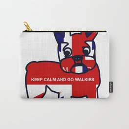 Keep Calm and Go Walkies French Bulldog Carry-All Pouch