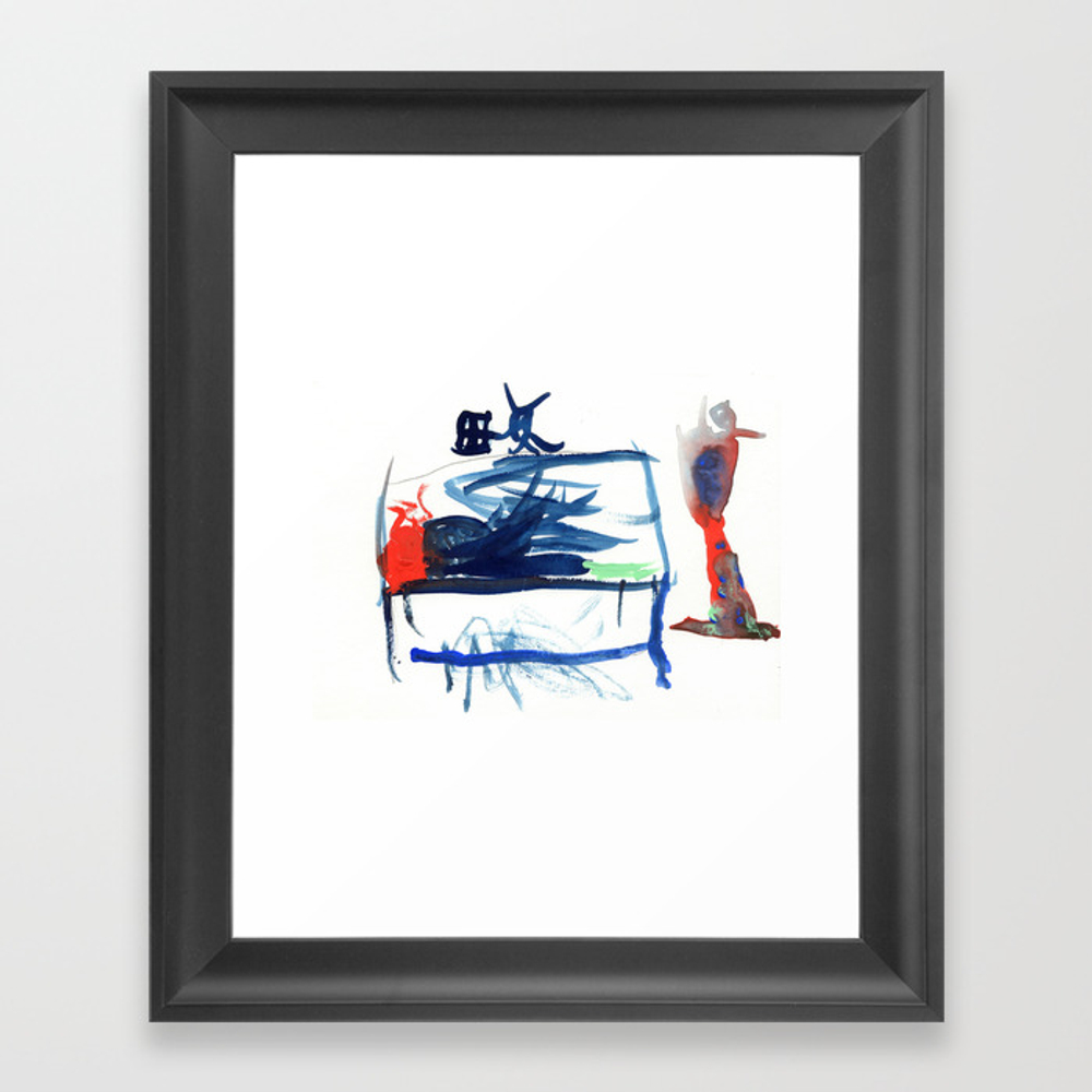 Coffee Cup On Table By Gavin Framed Art Print by Kimberlyannenicoll FRM8758563