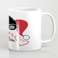 harley Mugs featuring Harley Kiss by fabvalle