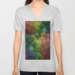 Succulent Garden Rainbow Unisex V-Neck