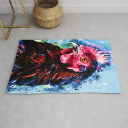 rooster art 2 #rooster #animals Rug