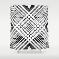acid Shower Curtains featuring ACID ABSTRACT by Chrisb Marquez