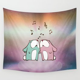 Singing Rabbits Wall Tapestry