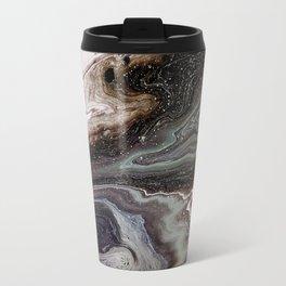 Black oil, acrylic on canvas Travel Mug