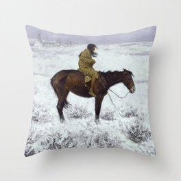 Frederic Remington - The Herd Boy, 1910 Throw Pillow