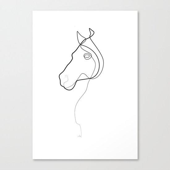 One line Horse 1811 B Canvas Print