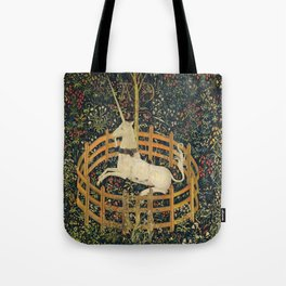 The Unicorn in Captivity (from the Unicorn Tapestries) 1495–1505 Tote Bag