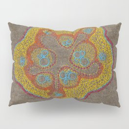 Growing - Cucumis - plant cell embroidery Pillow Sham