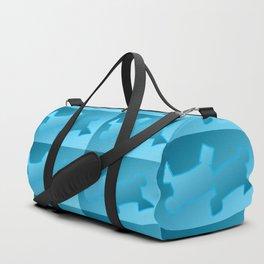 Pattern geometrical light blue 3d Duffle Bag