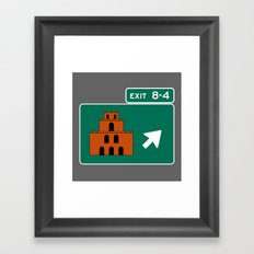 EXIT 8-4 Framed Art Print