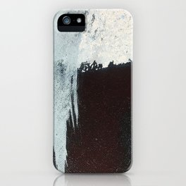 Like A Gentle Hurricane [3]: a minimal, abstract piece in blues and white by Alyssa Hamilton Art iPhone Case
