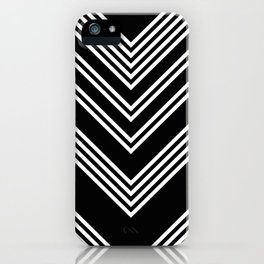 Back and White Lines Minimal Pattern No.3 iPhone Case