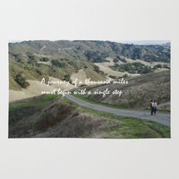 miles davis Area & Throw Rugs featuring Thousand Miles by Natalie Guardado