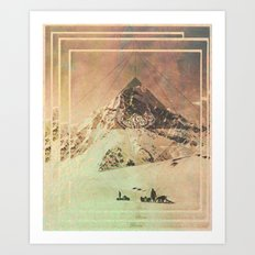Wild Valley Mountian Art Print