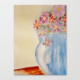 Vase of flowers Canvas Print
