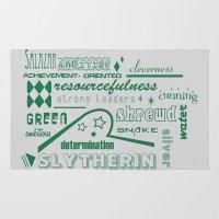 slytherin Area & Throw Rugs featuring Slytherin by husavendaczek