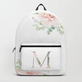 M - Floral Monogram Collection Backpack