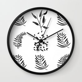 shapes from nature Wall Clock